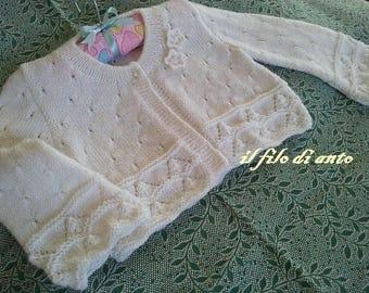 Jackets/merino wool shirt/White bolero jacket