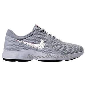 Swarovski Bling Nike Revolution 4 Women's Nike Shoes Custom with Swarovski  Crystals Rhinestones