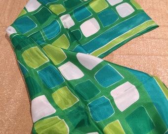 Vera Neumann large graphic art deco vintage scarf AMAZING colors