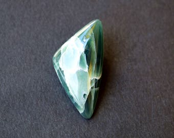 38 x 19 x 6 mm  Ophite  natural stone cabochon