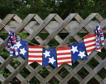 Patriotic Burlap Banner
