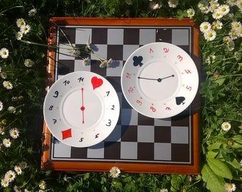 2 Serving Plates - Alice's Adventures in Wonderland