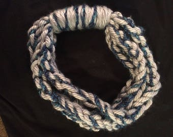 necklace scarf/ braided scarf/ crochet scarf