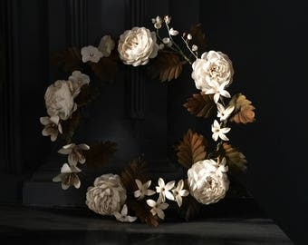 Antique French Bridal Wreath, A Magnificent and Rare Wedding Flower Wreath, 19th Century