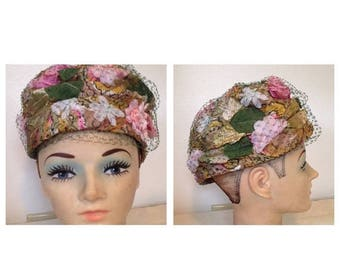 On Sale Absolutely Gorgeous Vintage Amy of NY Floral Hat