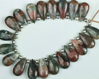 Awesome Agate , 19 piece smooth Pear Multi Agate, Size , 5 x 9 x 18 , mm Approx