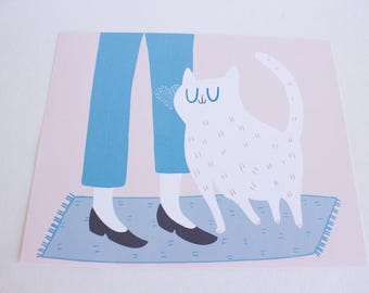 Cat Lover Gift / Cat Art / Wall Art / Cat Gift / Gift for Cat Lover / Cat Art Prints / Cat Home Decor / Gift for Cat Lady / Cat Lady / Cats