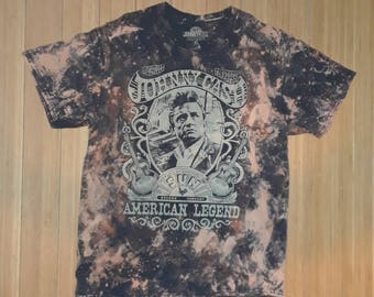 Johnny Cash American Legend Vintage Bleached T-shirt