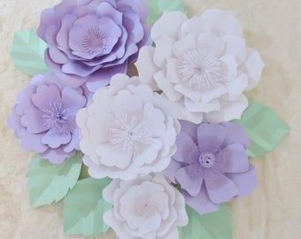 Paper Flower Backdrop/ Nursery Decor*******Color Customize your Order *****