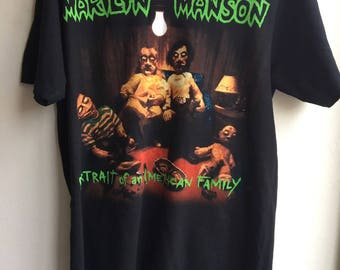 marilyn manson portrait of an american family t shirt