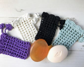 Crochet Soap Pouch/ Soap Saver Bag/ Cotton Soap Pouch