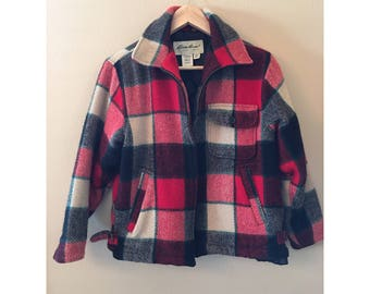 Wool, Plaid Eddie Bauer Jacket