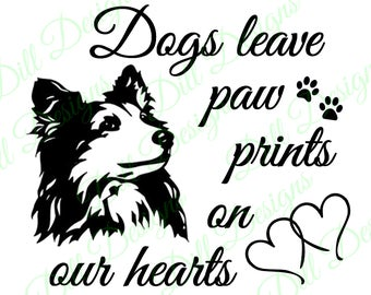 SPECIAL - Sheltie Paw Prints Shetland Sheepdog Dogs Decal Digital Download Sheltie Collie Miniature SVG SIL png