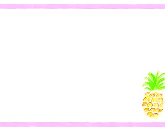 Pineapple with Pink Stripes Note Cards