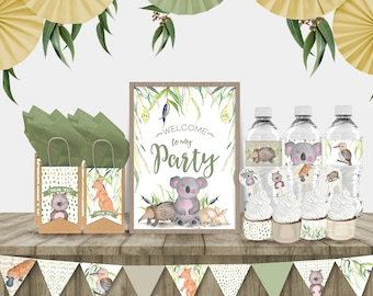 Australian Wildlife Printables Party Pack
