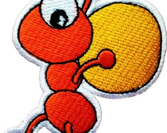 Patch/ironing-ant animal-orange-5.8 x 7.3 cm-by catch-the-Patch ® patch appliqué applications for ironing application patches patch