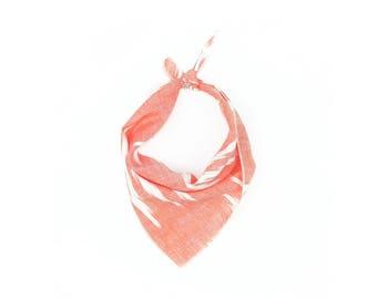 Coral Arrow Small Ikat Dog Bandana // Scarf // Neckerchief // Neck Tie