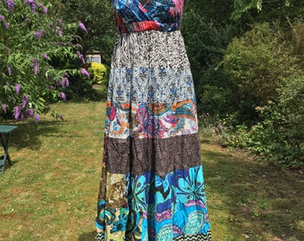 Long Besanti Dress, maxi summer dress, 100% cotton dress, hippie, boho style, bohemian