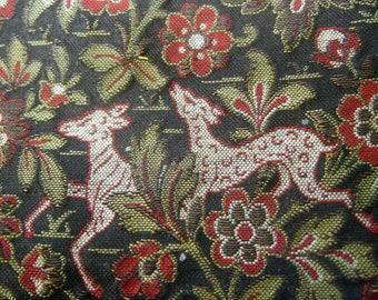 Opulent Art Deco Tapestry Evening Clutch Purse c 1950