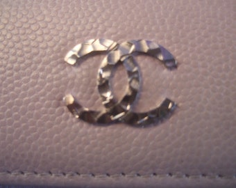 CHANEL Pale Pink Leather Wallet in Chanel Box