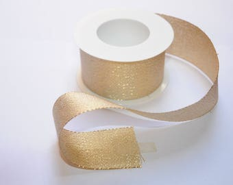Gold sparkly Ribbon 40mm