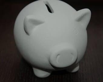 Terra cotta pig piggy bank