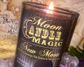 Spells~Spell Candle~Magic Candle~New Moon Candle~Moon Candle~Wicca Candle~Wiccan Candle~Witch Candle~Witchcraft Candle~Ritual Candle~Herbal~