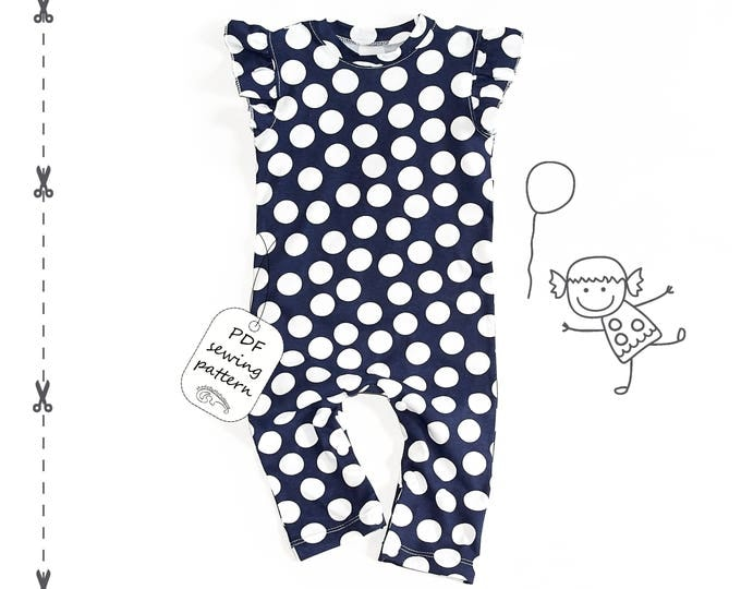 Featured listing image: Baby romper pattern PDF,  romper sewing patterns, sewing patterns