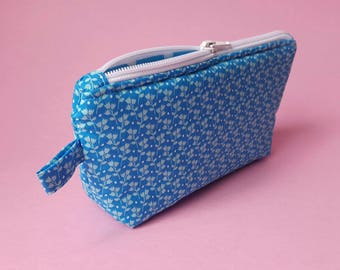 Handmade makeup/toiletry bag/Case/Pouch