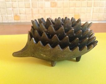 Walter Bosse style metal hedgehog ashtrays / stacking Hedgehog/Retro design/60's nesting ashtrays/Collectables/Mid century design.