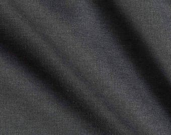 Black French Terry Spandex Fabric by the yard RG2