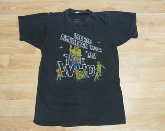 Vintage The Who north american tour shirt 1982 82'