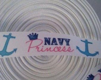 Navy Princess ribbon