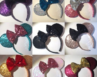 Full Sequin Ears in your Colour Choice