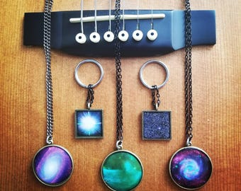 Handmade Necklace & Keychain Resin Space