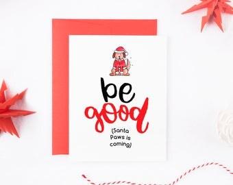 Funny Dog Christmas Card - Dog Christmas Card Set - Christmas Card For Dog - Christmas Card From Dog - Christmas Card Santa - Christmas Card