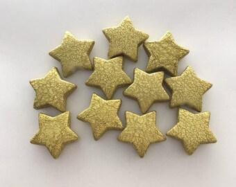 24mm glitter star 10pc