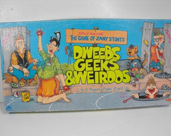 Dweebs Geeks and Weirdos Game Totally Awesome Game Zany Stunts 1988   (1224)