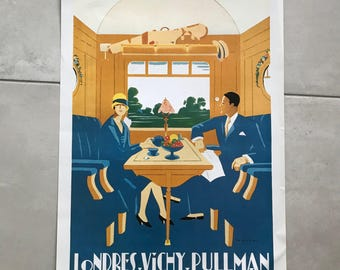 "Vintage French Poster for ""Pullman"" Train 1701183"
