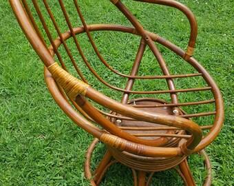 Bamboo Swivel Chair