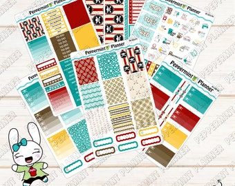 Pirate Weekly Planner Kit --- Planner Stickers --- For use with the Erin Condren Vertical Planner --- 04