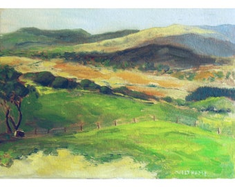 oil painting // irish landscape // artistic work of art // hand-painted impressionism art