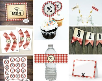 Barbecue Baby-Q Baby Shower - Ultimate Collection of Printable Party Decorations - Instant Digital Download - PDF File