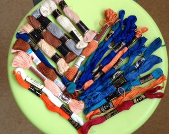 20 Skeins of Vintage Embroidery Threads
