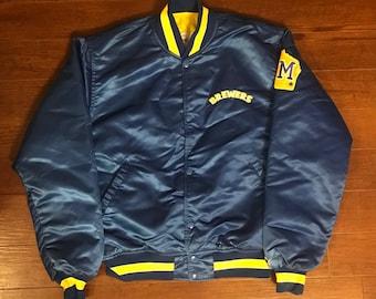 Milwaukee Brewers Starter Retro Satin Coaches Jacket - Sz Large