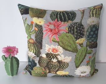 """Cushion cover """"Blooming Cacti"""""""