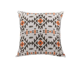 Aztec decorative pillow cover Ethnic throw pillow covers Navajo pillow case Tribal pillow cases Linen cushion covers Home decor gift 18x18