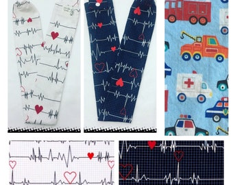 Heartbeat, Emergency Vehicles, EKG, Stethoscope Cover, Sock, Nurse, ems, Paramedic, Doctor, Veterinarian, Student,  Gift