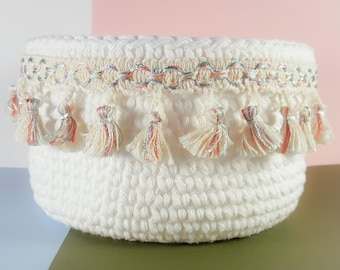 Charlie Crochet Basket / Storage Basket / Crochet Storage Basket / Home Decor / Home Storage