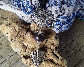 Black and silver scarf jewelry